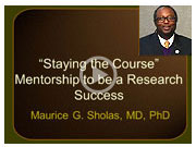 Video: Mentorship to be a Research Success