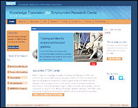 Knowledge Translation for Employment Research website screenshot