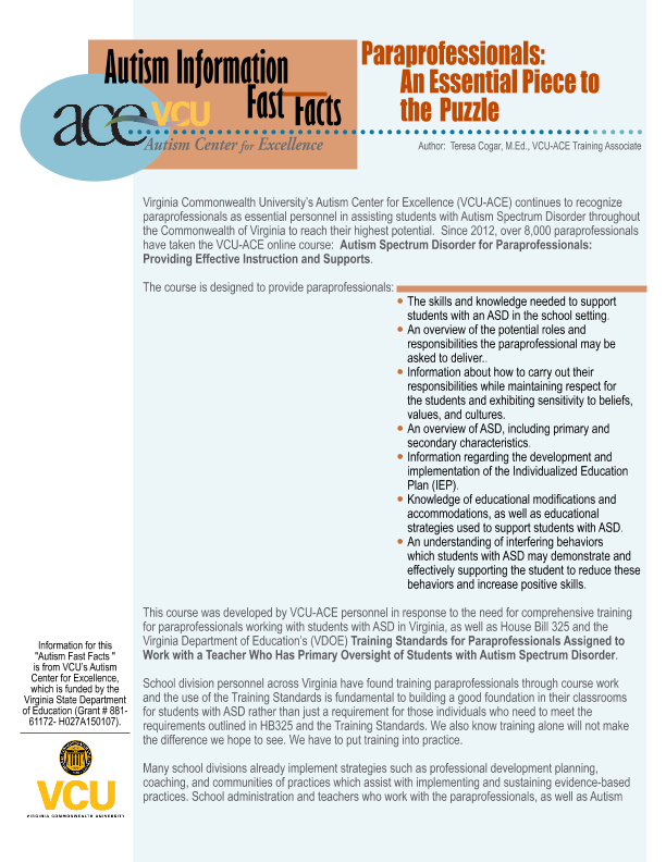 When Is Use Of Paraprofessionals >> View Resource Vcu Rrtc