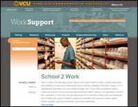 School 2 Work website screenshot